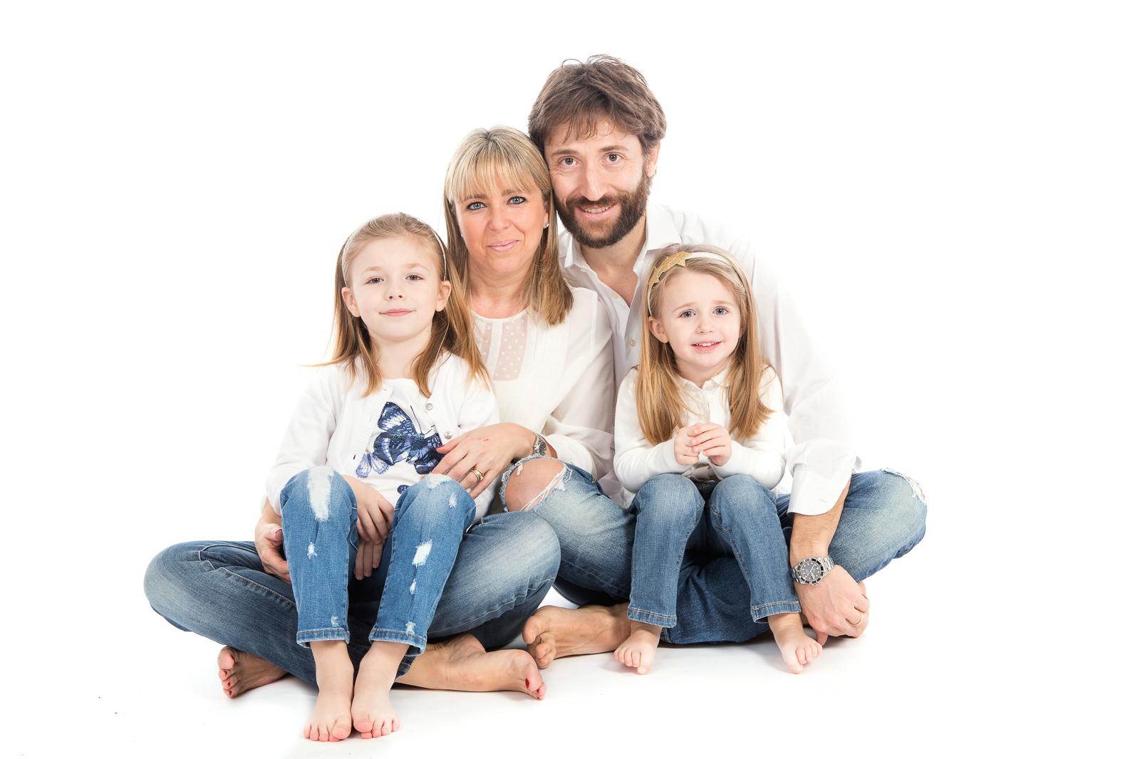 foto in studio famiglia